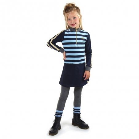 Jurkje Gigi Stripe air blue-navy