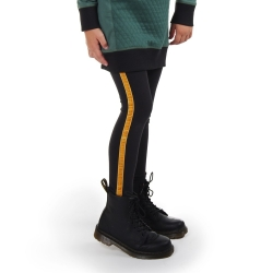 Legging met band Dark grey with yellow