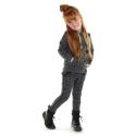 Hoodie Tessa Leo grey melee-dark grey