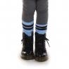 Kniekousen air blue met navy streep