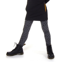 Legging (lang) Leo grey melee - dark grey