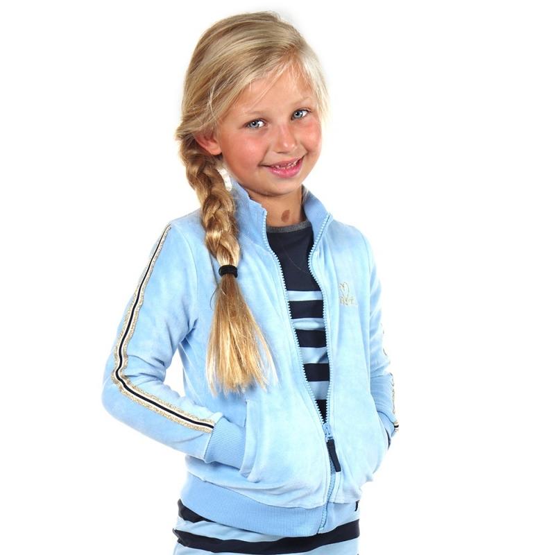 Vest Maddy Air blue velvet