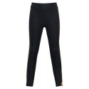 Legging met band Navy with gold