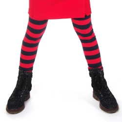 Legging (lang) Stripe red-navy