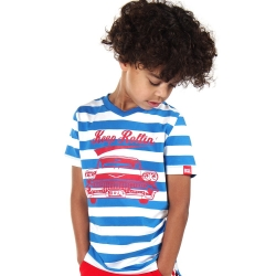 Shortsleeve Cooper french blue stripe