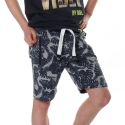 Shorts Nate grey melee leaves