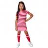 Jurkje Olivia pink/red stripe