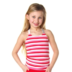 Top Desie pink/red stripe