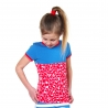 Shortsleeve Pepper pink/red leopard