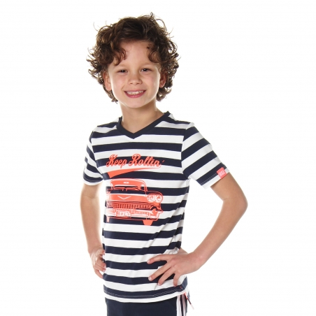 Shortsleeve Cooper navy stripe