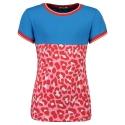Shortsleeve Pepper pink/red leopard