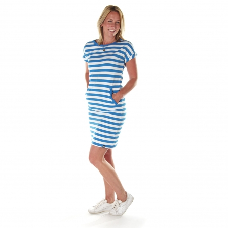 Dames jurk french blue stripe